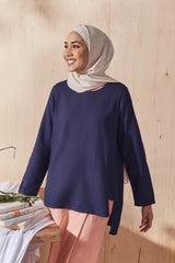 The Balik Women Pesak Blouse - Navy Blue