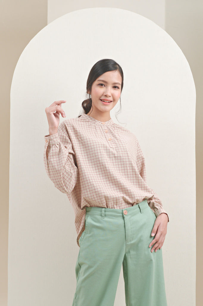 The Oasis Women Blooming Blouse - Checked Red