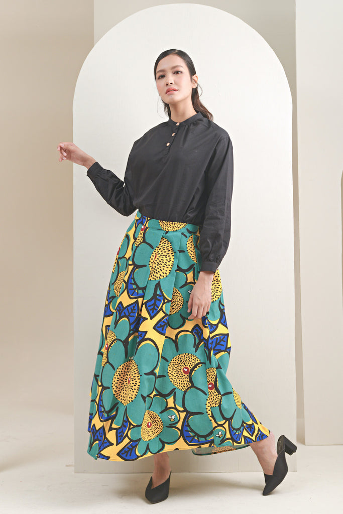 The Oasis Women Umbrella Skirt - Sunshine