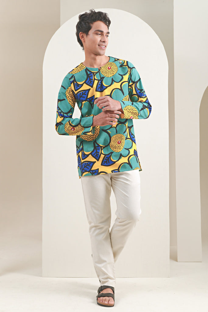 The Oasis Men Kurta - Sunshine