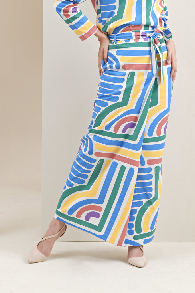 The Oasis Women Belted Skirt - Joy