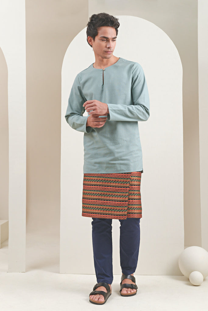 The Oasis Men Kurta - Vegan Green