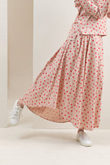 The Oasis Women Umbrella Skirt - Cherry