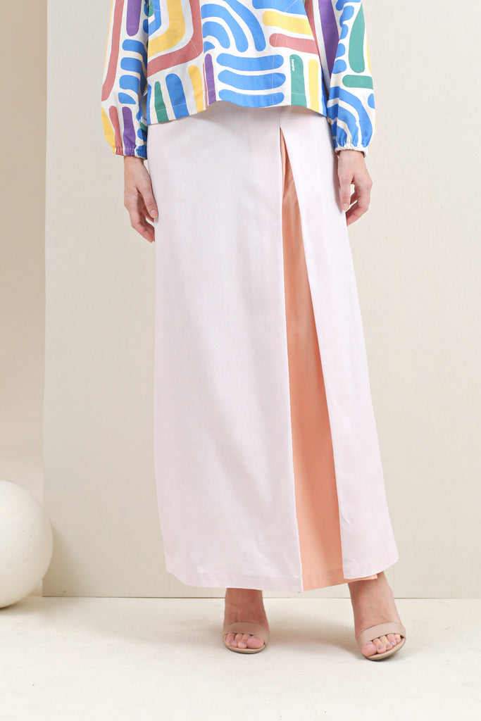 The Oasis Women Godet Skirt - Light Pink