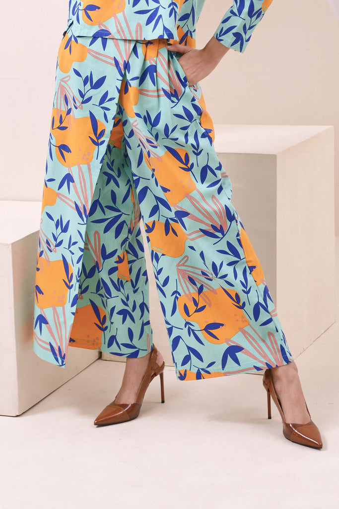The Nari Women Overlay Trousers - Glory Print