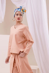 The Nari Women Tunic Kite Blouse - Peach