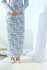 The Bangun Women Buttons Folded Skirt - Nami Print