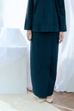 The Bangun Women Buttons Folded Skirt - Emerald Green