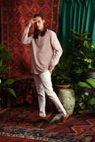 The Teratai Men Mandarin Kurta - Dusty Pink