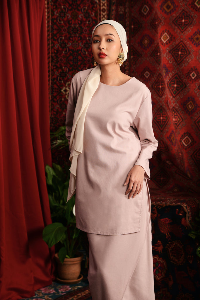 The Teratai Women Kameez - Dusty Pink