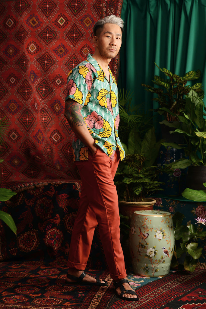 The Teratai Men Cuban Shirt - Magic Lotus