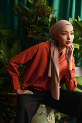 The Teratai Women Boxy Blouse - Terracotta