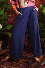 The Teratai Women Overlay Trousers - Navy Blue