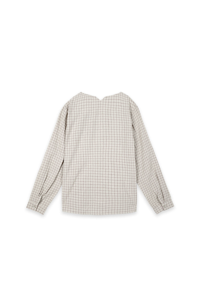 The Oasis Women Pleated Sleeve Blouse - Checked Blue