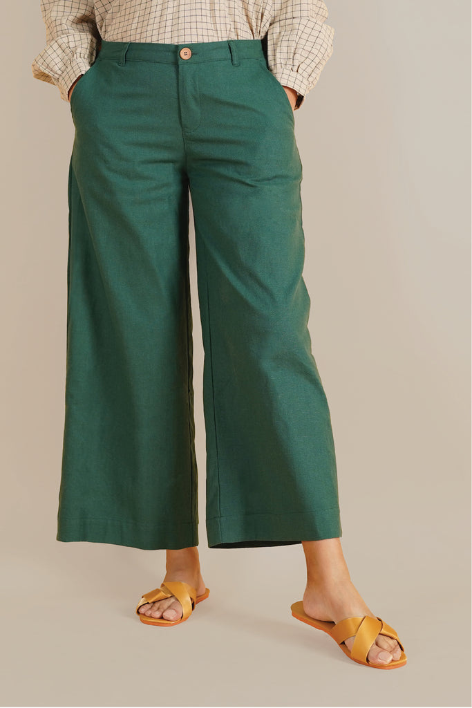 The Everyday Women Palazzo - Dark Green