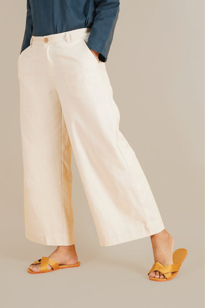 The Everyday Women Palazzo - Natural Linen