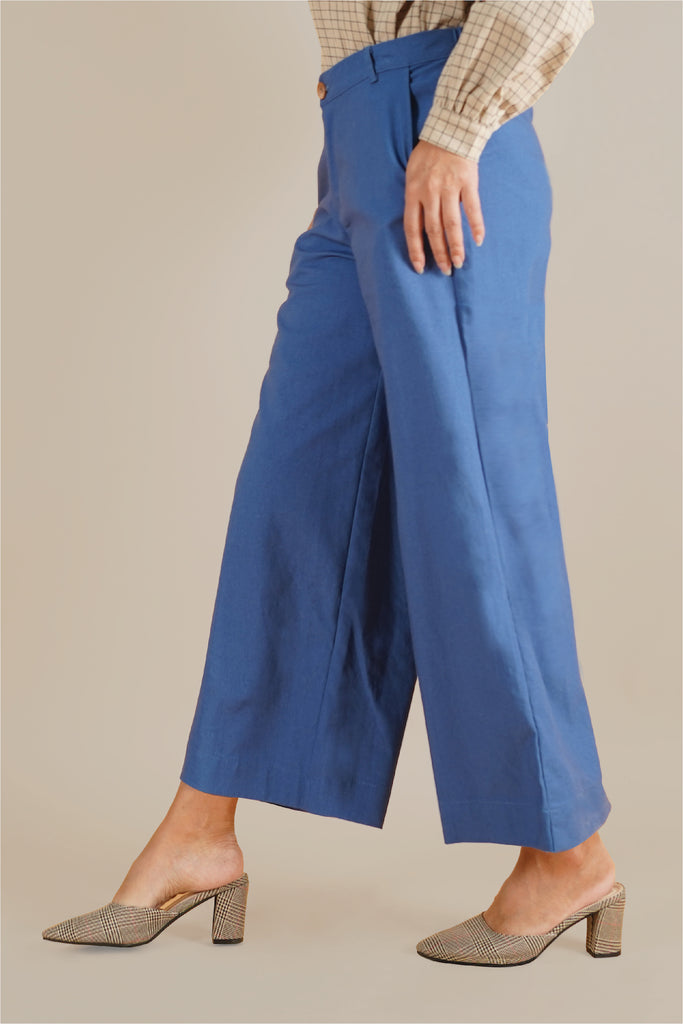 The Everyday Women Palazzo - Steel Blue