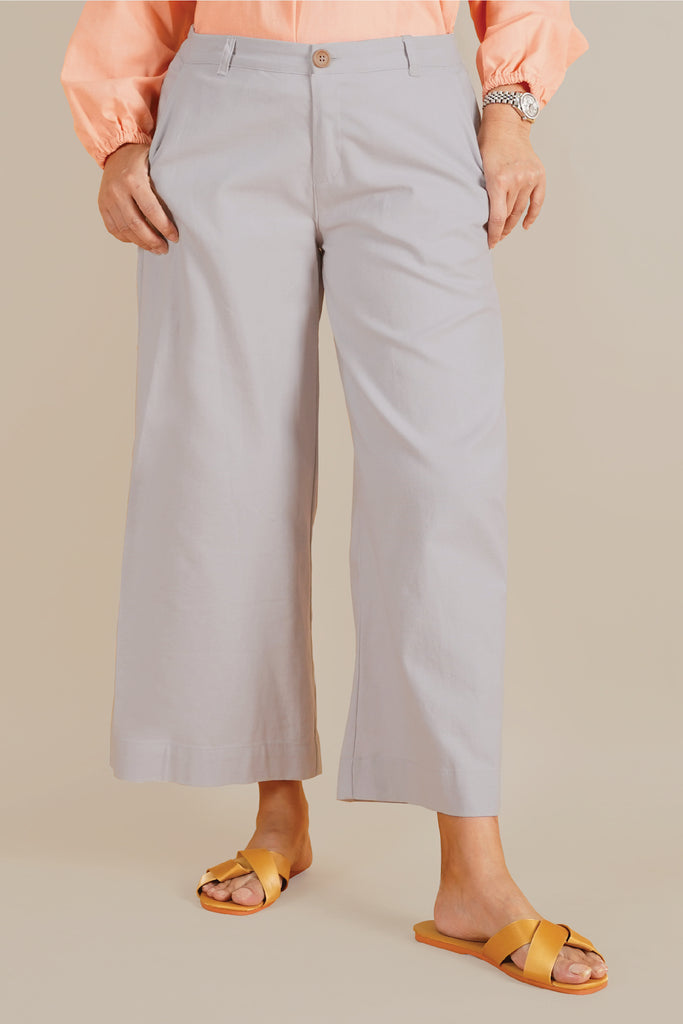 The Everyday Women Palazzo - Light Grey