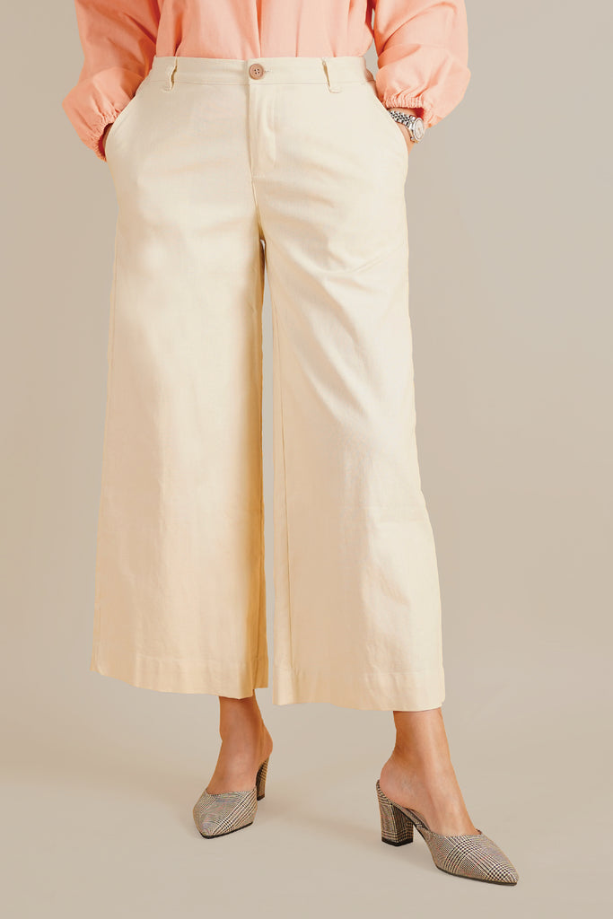The Everyday Women Palazzo - Cream