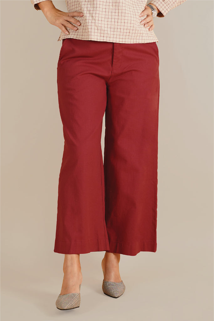 The Everyday Women Palazzo - Ruby Red