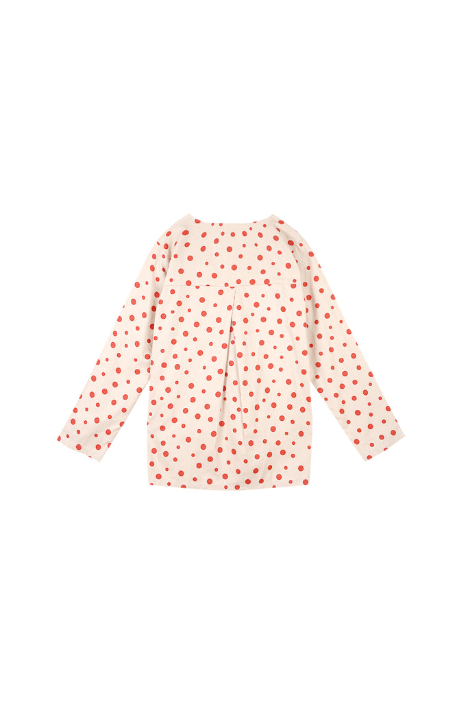 The Oasis Women Folded Back Blouse - Cherry