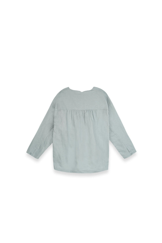 The Langit Women Origami Blouse - Frosty Green