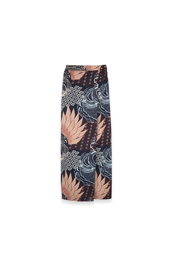 The Langit Women Folded Skirt - Gelam