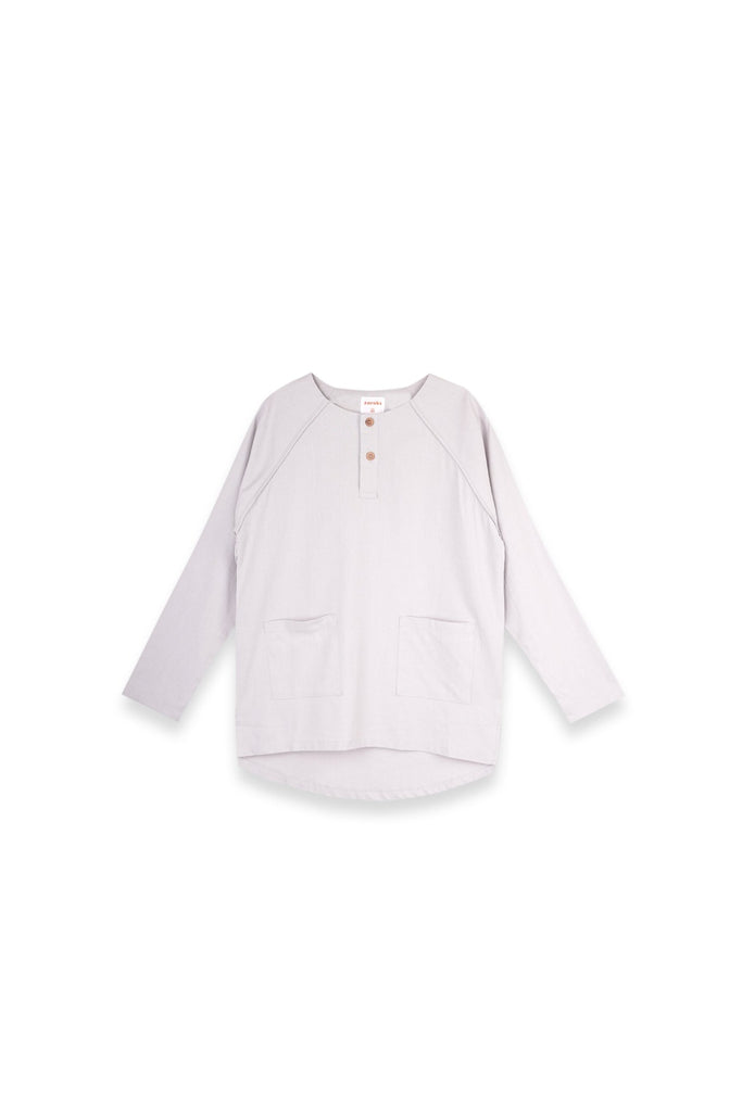 The Langit Women Raglan Sleeve Blouse - Light Grey