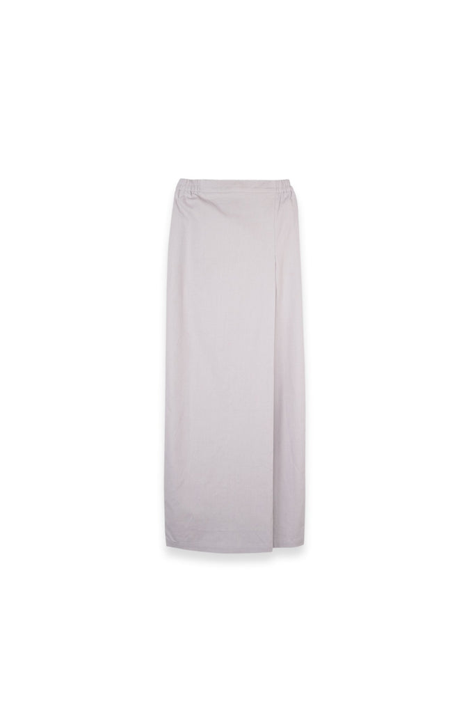 The Langit Women Folded Skirt - Light Grey