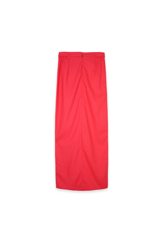 The Oasis Women Belted Skirt - Red