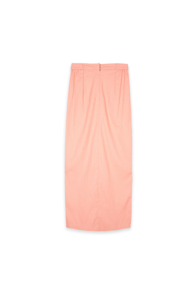 The Oasis Women Belted Skirt - Salmon