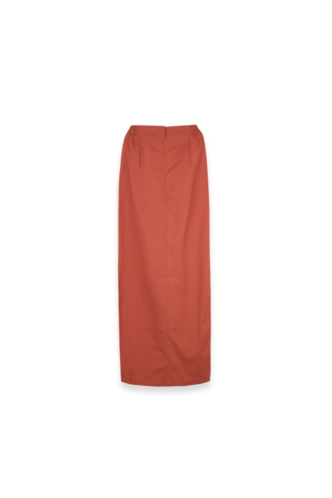 The Langit Women Folded Skirt - Terracotta