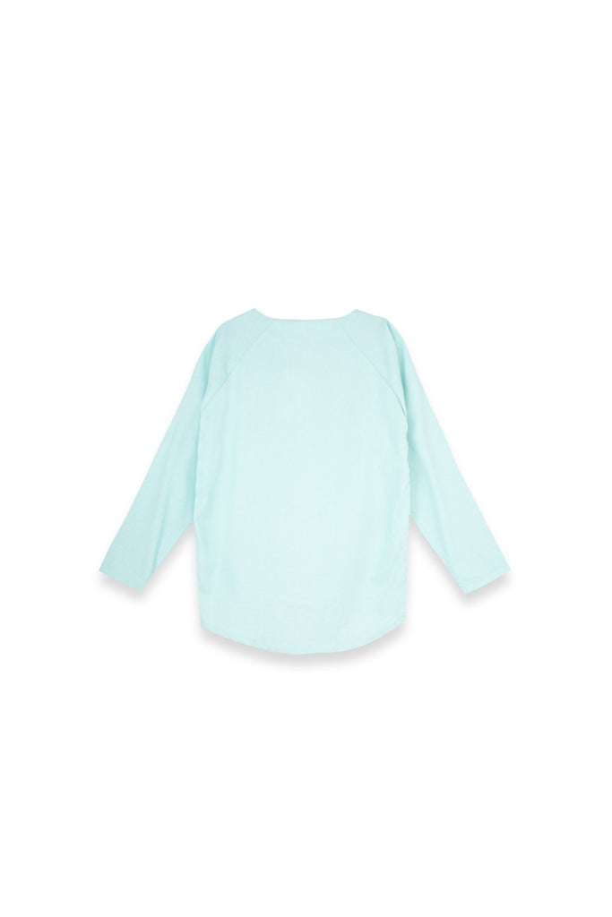 The Langit Women Raglan Sleeve Blouse - Tiffany