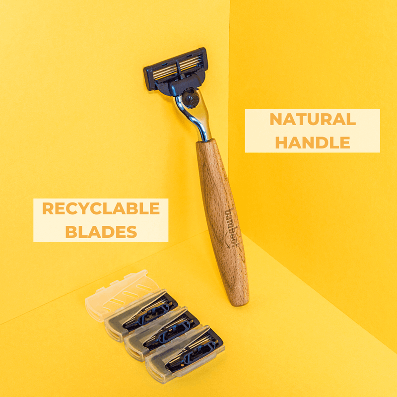 Bamboo Razor | Recyclable Blades & Natural Bamboo Handle