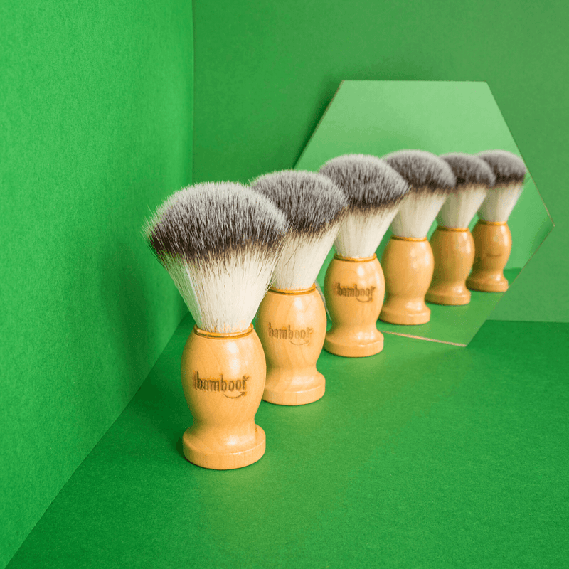 Bamboo Shaving Brush | Mirror Selfie