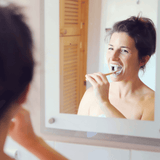 Charcoal Toothbrush In Use