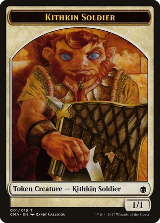 Kithkin Soldier Token (001) [Commander Anthology Tokens] | Ministry of Hobbies