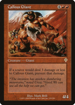 Callous Giant [Invasion] | Ministry of Hobbies