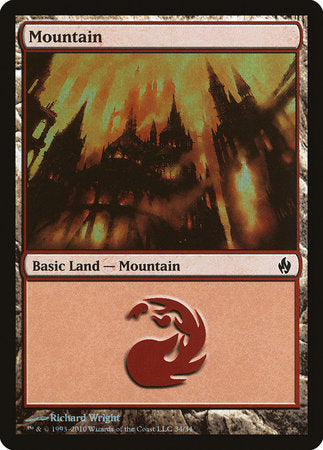 Mountain (34) [Premium Deck Series: Fire and Lightning] | Ministry of Hobbies