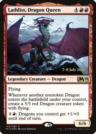 Lathliss, Dragon Queen [Core Set 2019 Promos] | Ministry of Hobbies