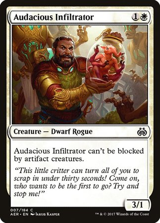 Audacious Infiltrator [Aether Revolt] | Ministry of Hobbies