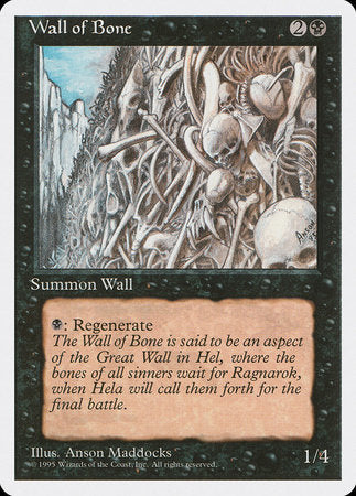 Wall of Bone [Fourth Edition] | Ministry of Hobbies