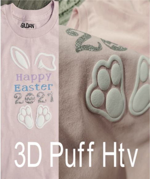 3D Puff Htv - - It puffs up 3 dimensional when heat is applied