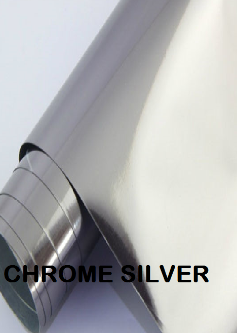 Bright Chrome Silver Permanent Outdoor Adhesive Vinyl comparable to 651