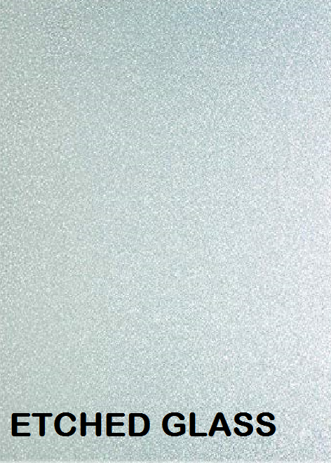 Textured Silver Etched Glass Permanent Outdoor Adhesive Vinyl