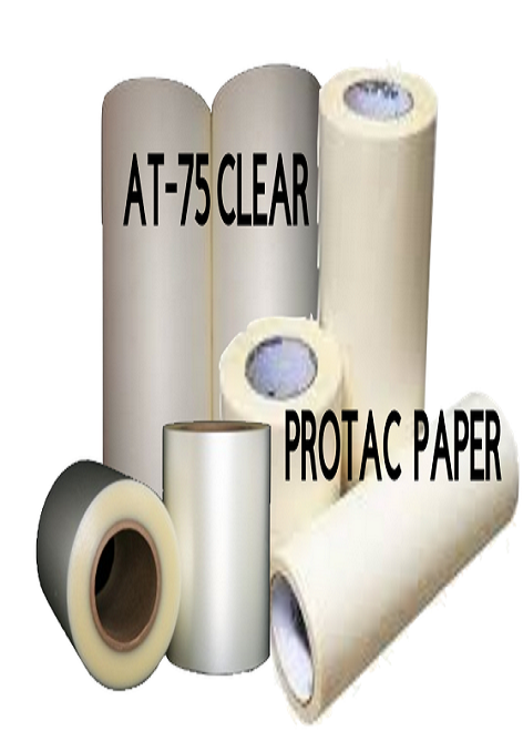 100 and 300 foot Rolls of Transfer Tape - Paper and Clear