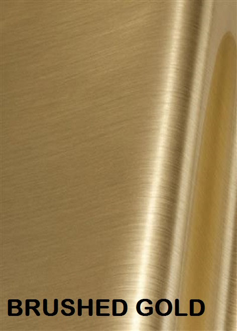 Brushed Gold Permanent Outdoor Adhesive Vinyl
