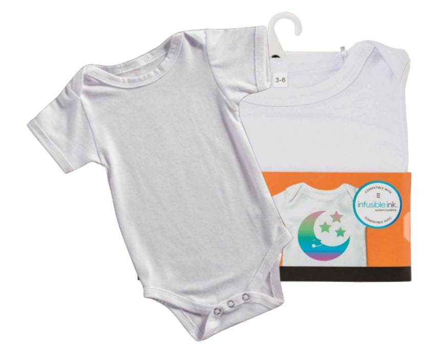 Baby / Infant Body suit - Onesie 95% polyester perfect for Htv, Infusible Ink or Sublimation