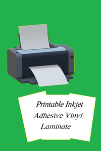 "UV Laminate to protect Inkjet Printable Adhesive Vinyl 8.5"" x 12"" Gloss or Matte"