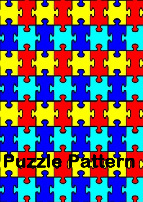 Adhesive Permanent Outdoor Vinyl in the Puzzle Pattern for Autism Awareness